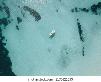 A drone view on the Mediterranean Sea in Mallorca, Spain