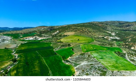 Drone view to the Phrygian valley in the city of Afyonkarahisar