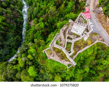 Drone view to the Trabzon castle
