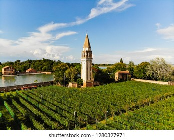 Drone View of Winery in Veneto Italy