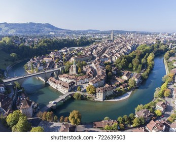 droneview of Bern