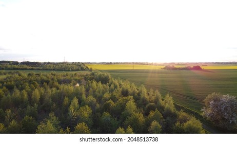 Droneview of Danish nature side