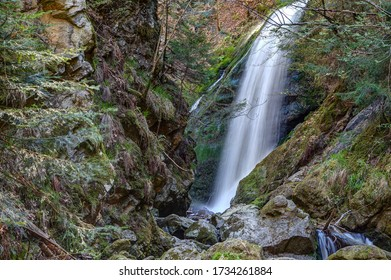 With a drop of 16 meters, the large waterfall is one of the attractions in the Ravenna Gorge. The Ravenna Gorge is a narrow and steep side valley of the Höllental in the Black Forest.