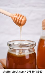 a drop of honey a healthy drink is recommended with whitespace