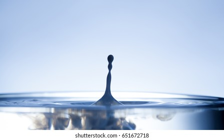 drop of ink falling into liquid, abstract background