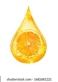 drop of orange serum, hyaluron serum