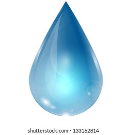 drop of water on a white background.raster copy of vector file
