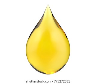 Drop with white background, 3d rendering