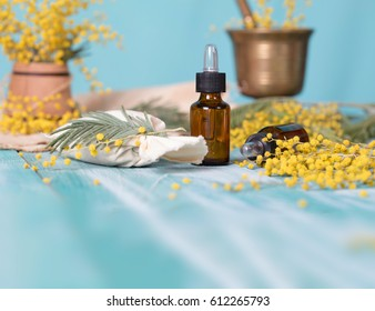 Dropper bottle of mimosa essential oil