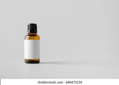 Dropper Bottle Mock-Up - Blank Label