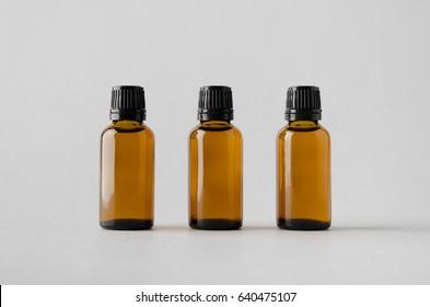 Dropper Bottle Mock-Up - Three Bottles