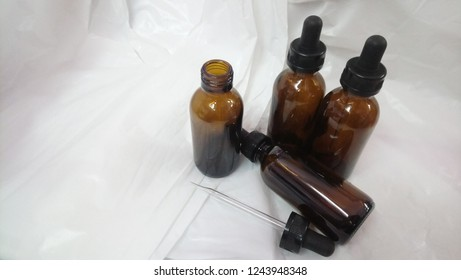 Dropper Bottles brown color and  white background