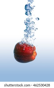 Dropping the apple in the water