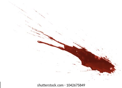 Drops of blood, isolated on white background