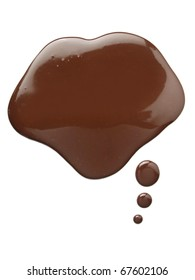 Drops of melted chocolate
