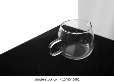 drops on glassware on a black and white phoneme