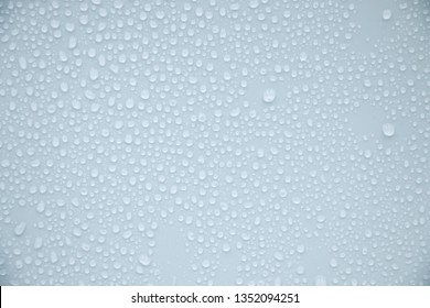 Drops of water on beautiful colors on the background