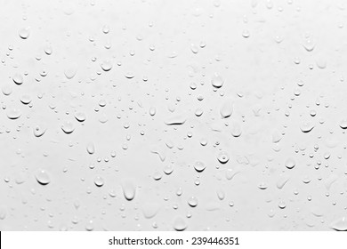 drops of water on white. close-up