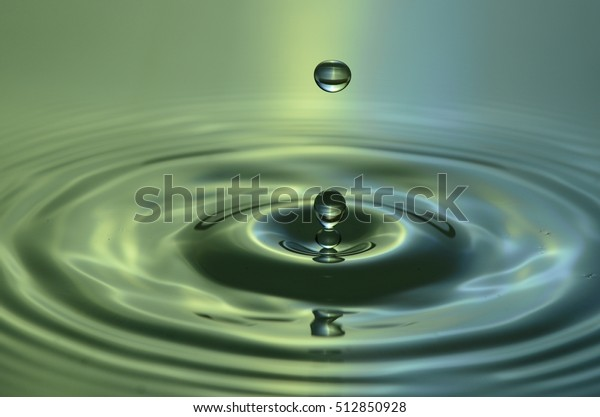 Drops Waves Frozen Time Water Art Stock Photo (Edit Now