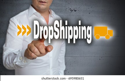 Dropshipping touchscreen is operated by man.