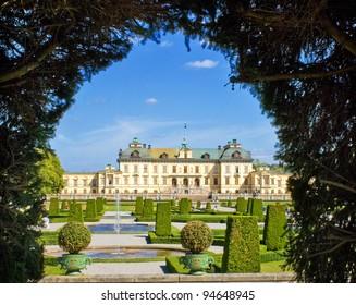Drottningholm Palace Gardens at Stockholm, Sweden