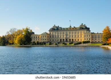 Drottningholm Royal castle of Stockholm Sweden.
