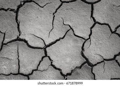 Drought ground, soil cracks