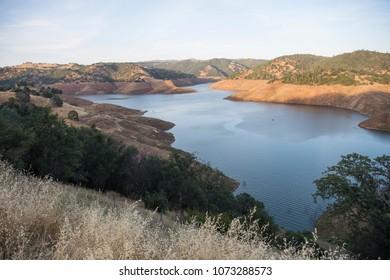 Drought stricken California lake