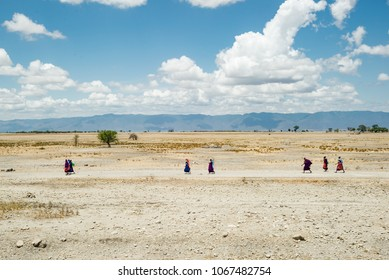 drought in times of climate change people searching for water in tanzania africa
