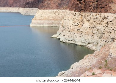 Drought in the USA. Low level of Lake Mead (border of Arizona and Nevada).