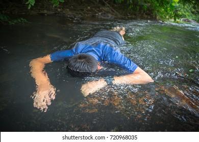 Drowning boy