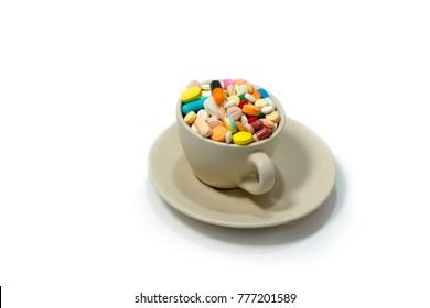 drug filled in the coffee mug