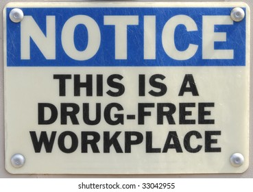 Drug Free Sign Notice