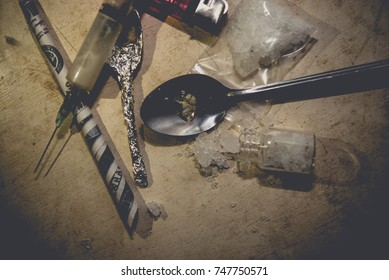 Drug paraphernalia,Flakka drug or zombie drug is dangerous life-threatening,Thailand no to drug concept
