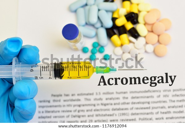Drugs Acromegaly Treatment Abnormal Growth Hormone Stock