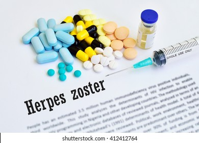 Drugs for herpes zoster treatment