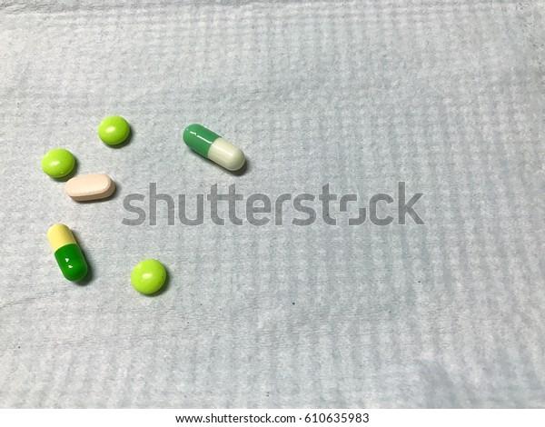 Drugs on white background (Antipsychotic drugs)