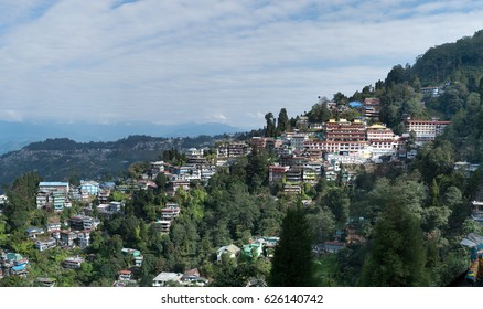 Druk Thupten Sangag Choling Monastery or Dali Monastery located in the middle of Darjeeling hill town