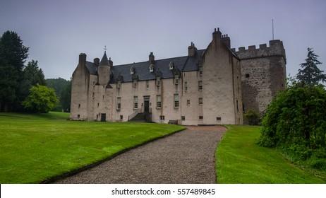 Drum Castle in Scotland, Great Britain