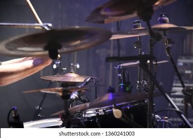 drum kit and drummer hands, Kyiv, Ukraine