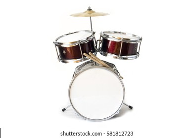 Drum kit isolated on white background