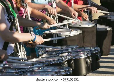 drum line rehearsal