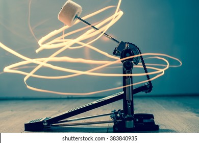 Drum Pedal Light painting