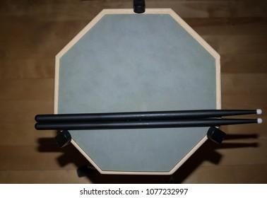 Drum Practice Pad with sticks