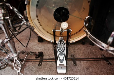 Drum set and  bass drum pedal