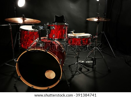 Drum Set On Stage Stock Photo Edit Now 391384741 Shutterstock