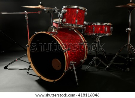Drum Set On Stage Stock Photo Edit Now 418116046 Shutterstock