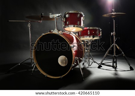 Drum Set On Stage Stock Photo Edit Now 420665110 Shutterstock