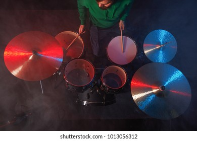 Drum Set On Stage Drummer View Stock Photo Edit Now 793059016