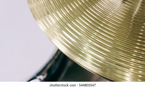 drum set, professional drum kit. Training to the drummer. Music lifestyle. Unfocused & Film texture
